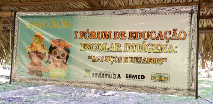 ACONTECEU DURANTE TODO O DIA DE QUINTA-FEIRA NA ALDEIA DA PRAIA DO ÍNDIO UM FÓRUM QUE DISCUTIU OS AVANÇOS E DESAFIOS DA EDUCAÇÃO ESCOLAR INDÍGENA.