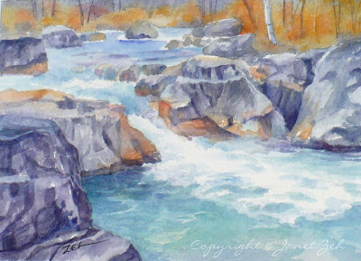 Marble Canyon British Columbia watercolor painting