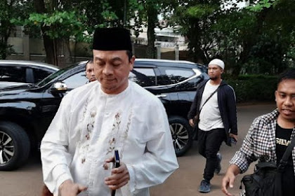 Jadi Tersangka, Bachtiar Nasir Sambangi Kediaman Prabowo di Kertanegara