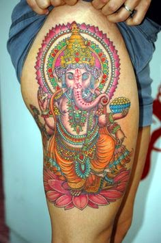 Ganesha Ganpati tattoo design paint art hindu god images pics wallpaper graphic color creative