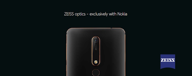 Nokia 6 (2018) comes with ZEISS Optics