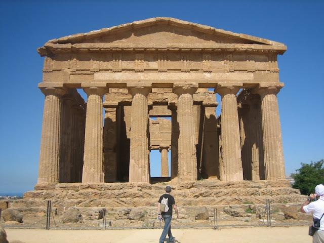Portada del Templo de la Concordía en Agrigento