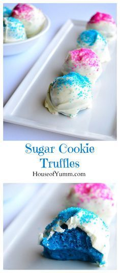 SUGAR COOKIE TRUFFLES #DESSERT #HOLIDAY #PARTY