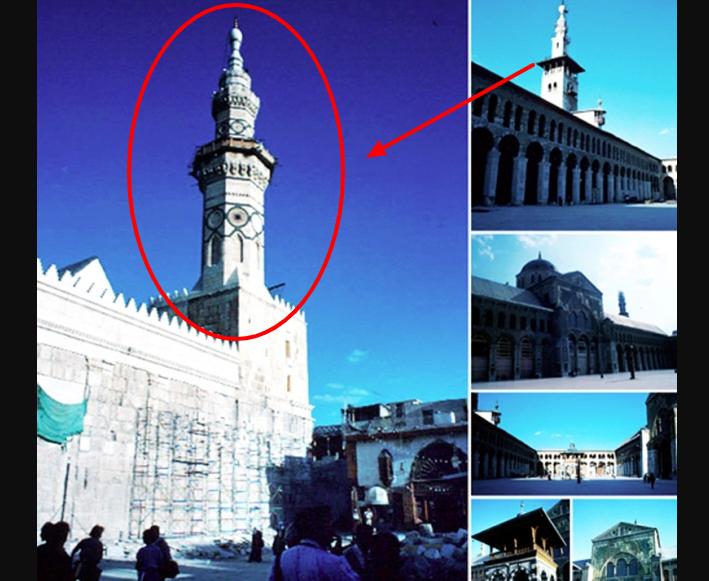 Inilah Tempat Turunnya Nabi Isa di Damaskus di Masjid yang Ada Menara Berwarna Putih