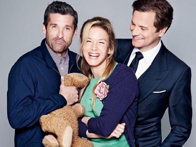 Le trio de Bridget Jones's Baby: Patrick Dempsey, Renee Zellweger et Colin Firth