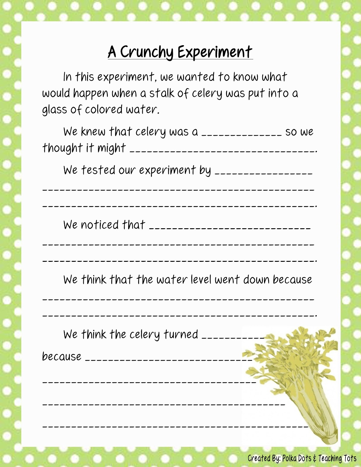 photo relating to Celery Experiment Printable Worksheet identified as √ Celery And Foodstuff Coloring Experiment Worksheet Celery