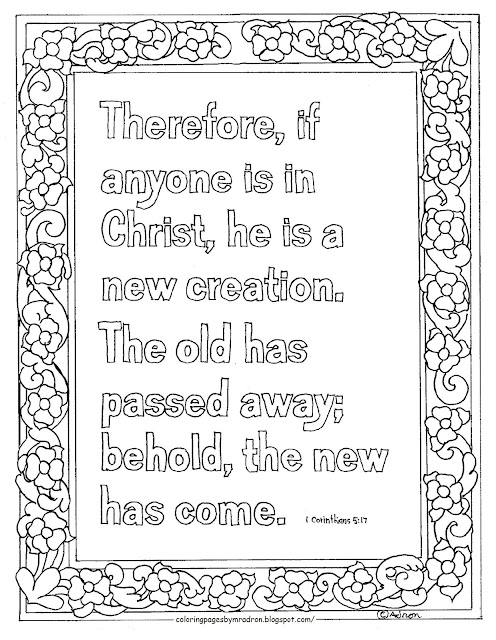 Coloring Pages For Kids By Mr Adron Printable Coloring Page New Creation Bible Verse 2
