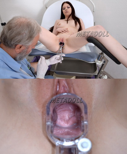 Naked girls on reception at the gynecologist - full body and pussy gyno examination