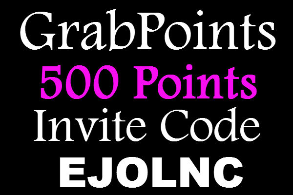 Grab Points Invite Code, GrabPoints Promo Code, Grab Points Invitation Code, Grab points Referral Code