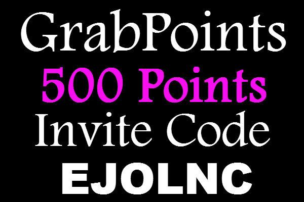 Grab Points Invite Code, GrabPoints Promo Code, Grab Points Invitation Code, Grab points Referral Code