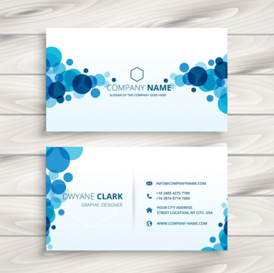 Kartu Nama - Blue Circles Business Card