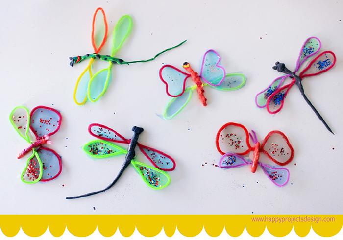 Jumping Clay: Mariposas y libélulas