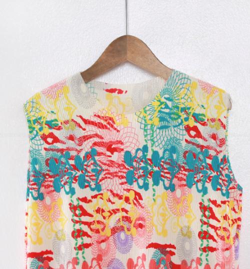 Sleeveless Patterned Shift Dress