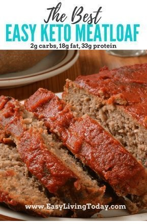 Easy Keto Meatloaf Bursting With Flavor