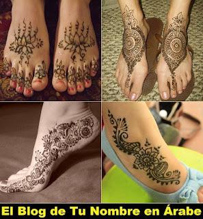 Tatuajes temporales de henna para pies