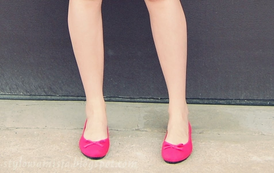 moda, pastele, różowy, sukienkowo, tanie baleriny
