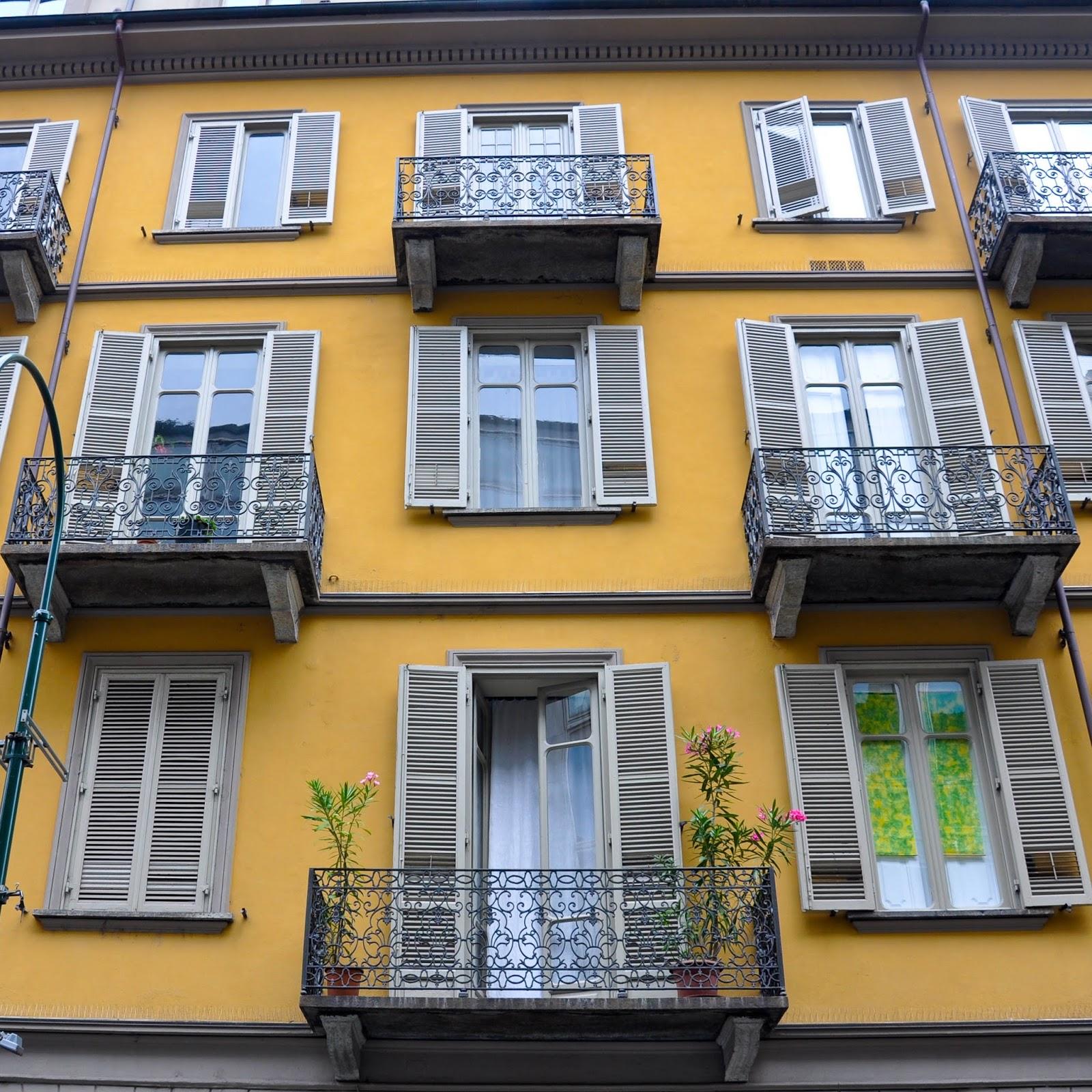 Zigzaggy balconies, Turin, Italy