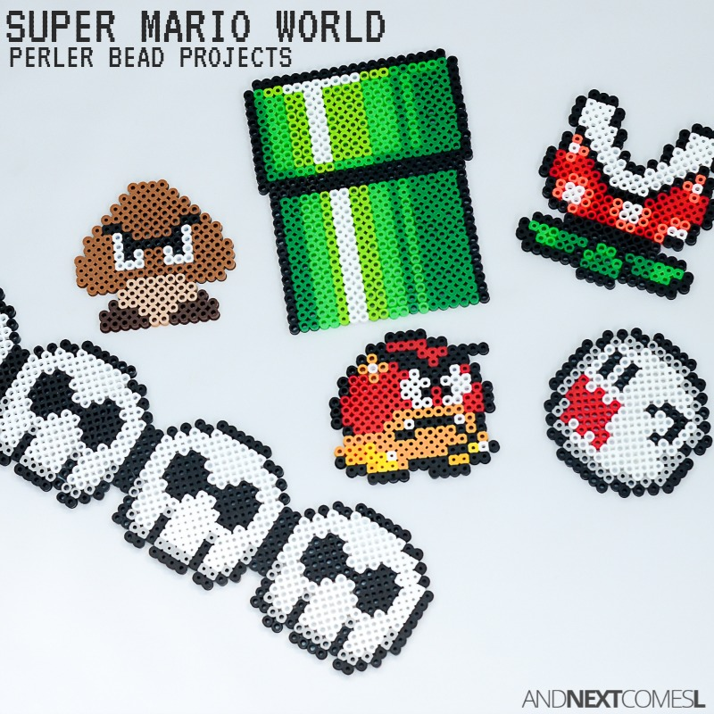 Super mario world perler bead projects part ii and for Bead craft ideas for kids
