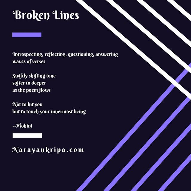 Text Image: April Poetry Month Day 4 Poem: Broken Lines