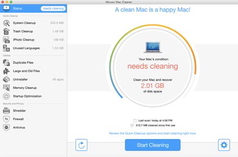 Movavi Mac Cleaner MacOS Optimition