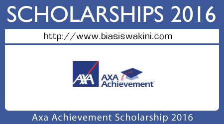 Axa Achievement Scholarship 2016