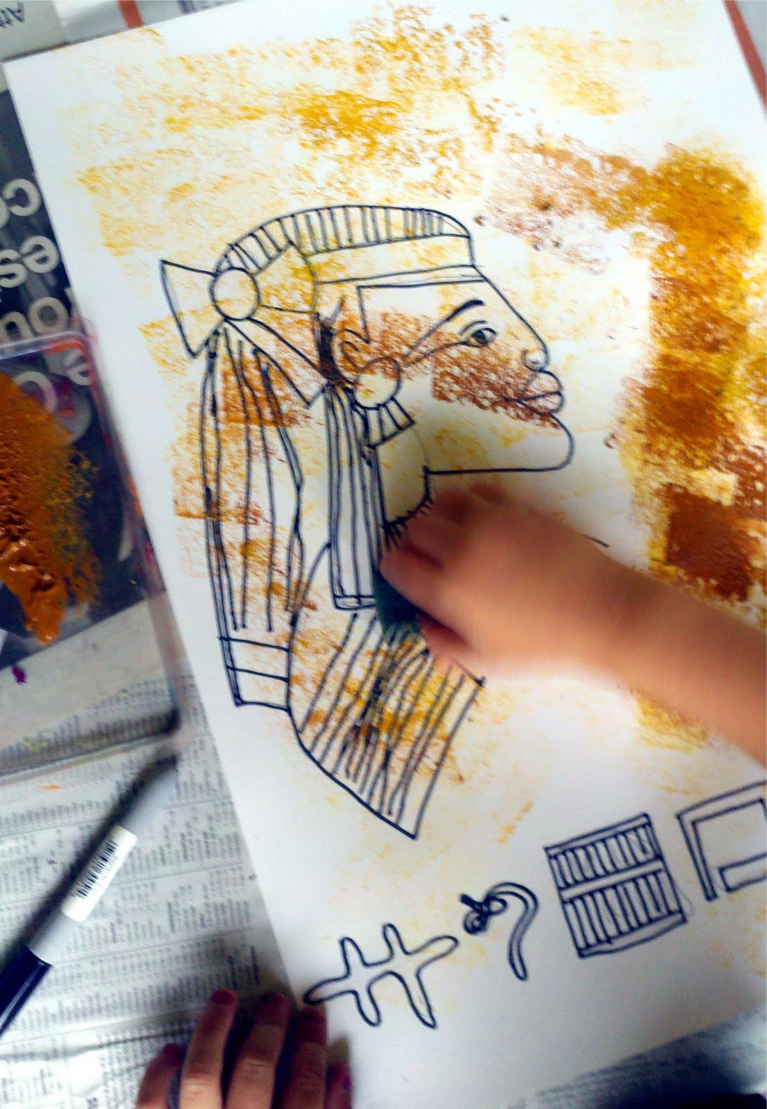 Mrspicasso S Art Room Draw Like An Egyptian Art At The
