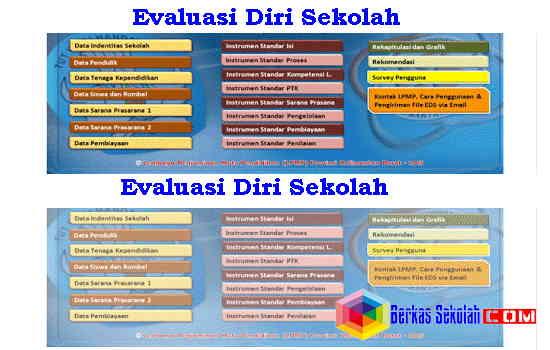 Download Aplikasi Evaluasi Diri Sekolah (EDS) SD SMP SMA SMK Sederajat Format Excel