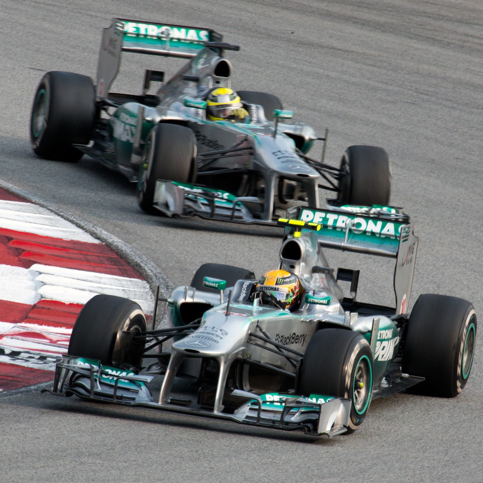 ee311d2b65 Today was once again all about Mercedes, with Lewis coming out on top.  Credit: Morio / CC