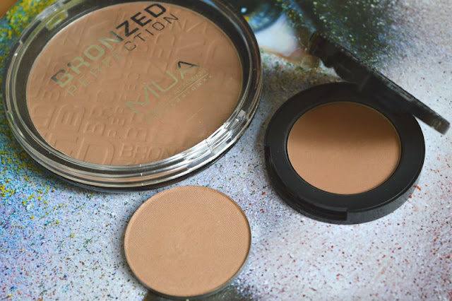 MUA Bronzed Perfection - Makeup Geek Love Triangle - Too Faced Chocolate Soleil Dupe