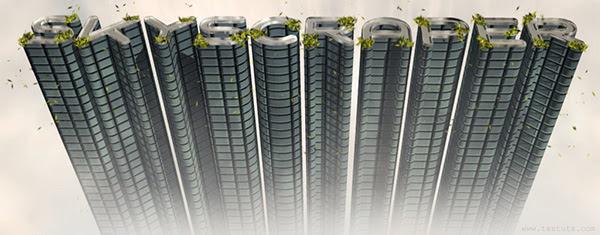 3D Skyscraper Text Effect in Photoshop