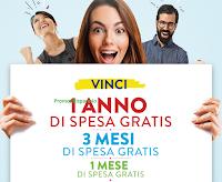 Logo Concorso ''Vinci un anno di spesa gratis'': buoni spesa da 100€, 300€ e 1.300€