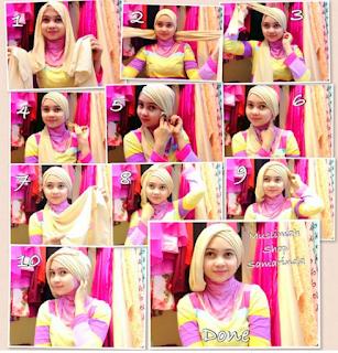 Foto Tutorial Hijab Pashmina Simple Mudah
