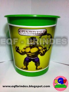 Baldinho de Pipoca Para Centro de Mesa Hulk Kid, Lembrancinha  Hulk Kid, Brinde Hulk Kid, Tema Hulk Kid, Festa Hulk Kid