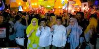 <b>Dukungan Kian Massif, Tiga Ribu Obor Warnai Kehadiran LUTFI-FERI di Kelurahan Tanjung</b>