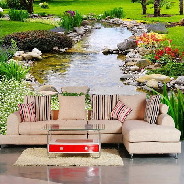 Mural wallpaper for home photo wallpaper landscape Large wall painting background wall paper the living room Nature park creek