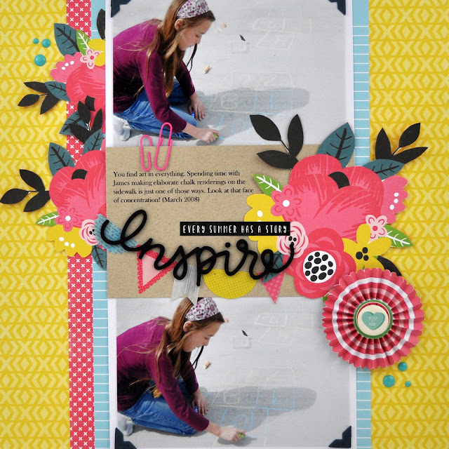 Scrapbooking Process Video #69: How to Fussy Cut Pattern Paper with Jen Gallacher from www.jengallacher.com #scrapbookingprocessvideo #scrapbooker #scrapbooklayout #jengallacher
