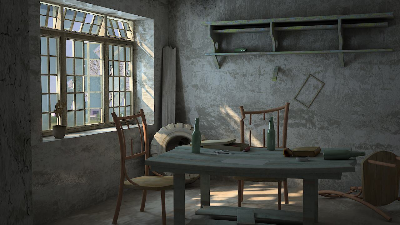 Exterior: 3D: Prison Exterior Modeling, Texturing & Lighting In 3Ds Max