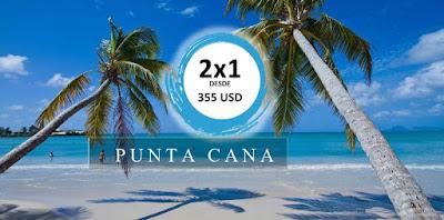 imagen Oferta 2x 1 parejas de vuelos a  Punta Cana