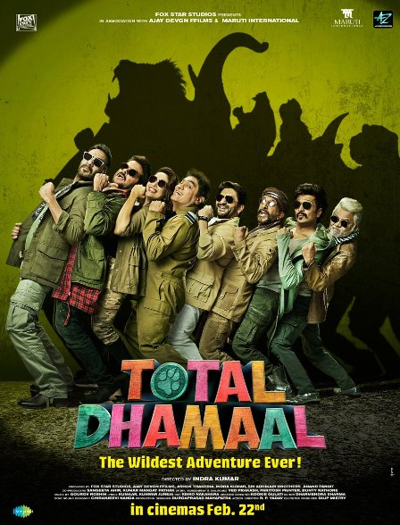 Ajay Devgn, Riteish Deshmukh, Arshad Warsi, Javed Jaffrey, Madhuri Dixit, Esha Gupta, Anil Kapoor film Total Dhamaal Crosses 62.40 Crore Mark, 4th Bollywood Highest-Grossing of 2019 Wikipedia