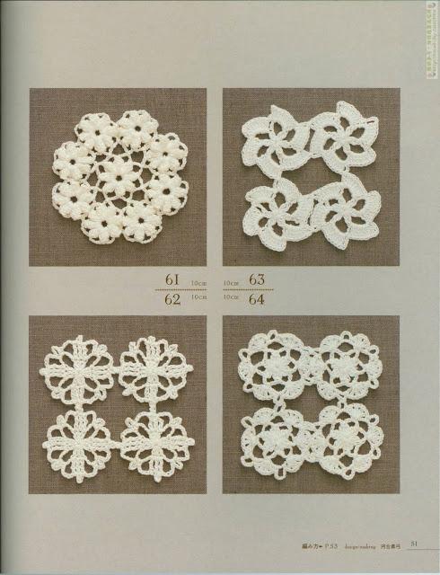 Minimotivos Redondos de Crochê Com Gráfico 20