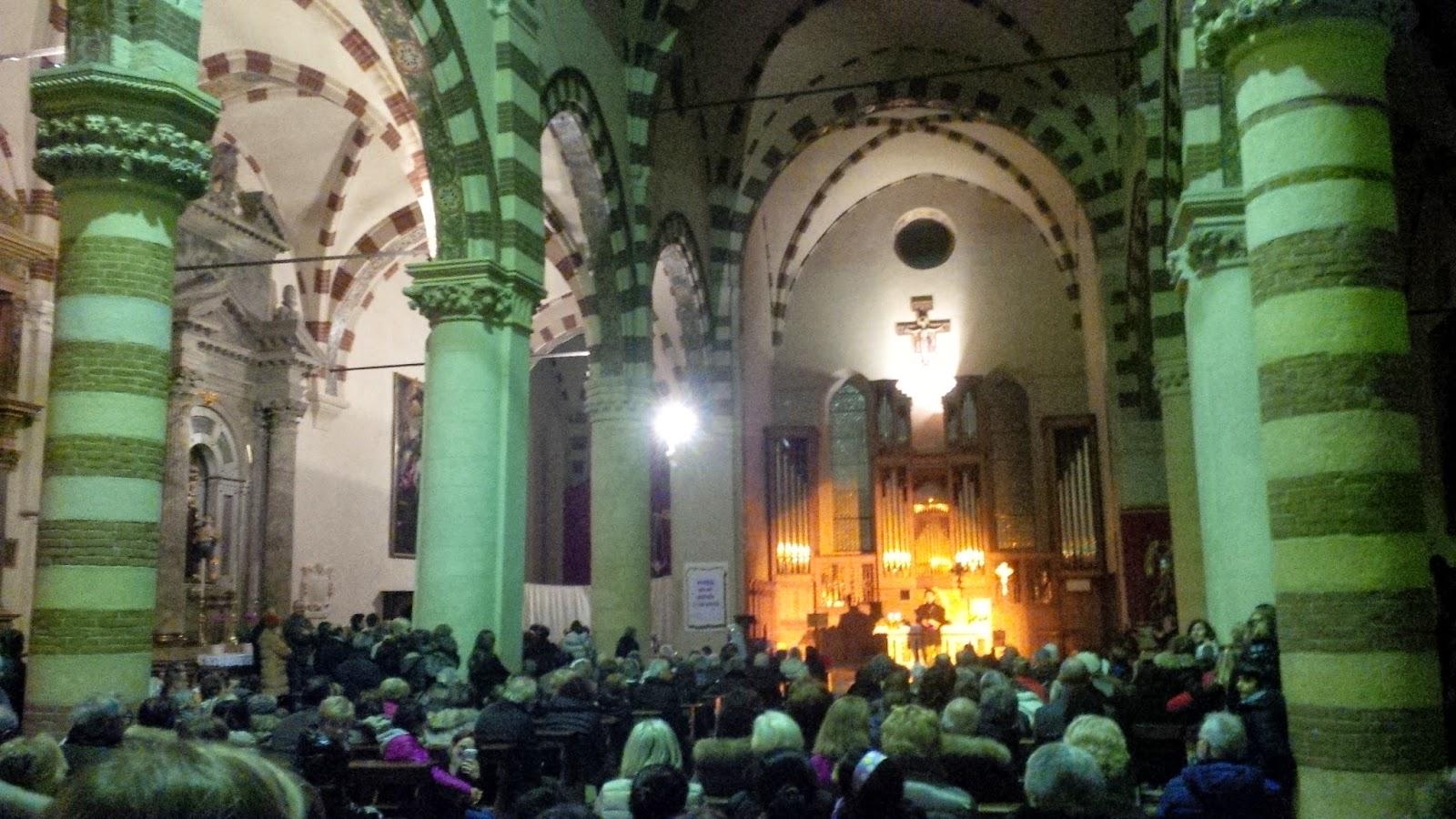 Inside the Chiesa dei Servi