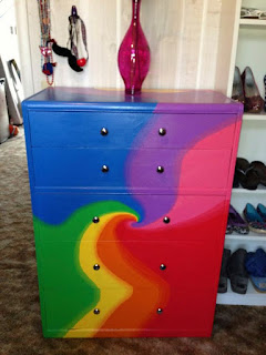 A Colorful Array of Painted Rainbow UPCYCLED Furniture & Decor Ideas