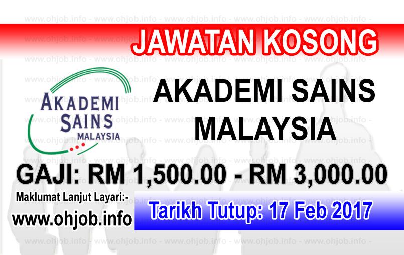 Jawatan Kerja Kosong Akademi Sains Malaysia (ASM) logo www.ohjob.info februari 2017