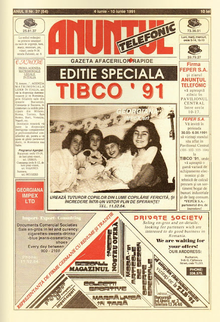 anuntul telefonic 1991 ziar reeditat