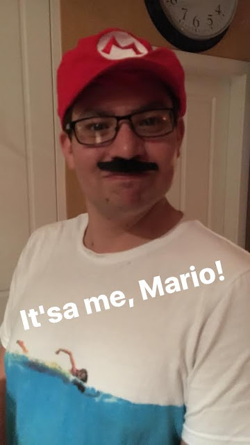Jesse dressed up as Mario