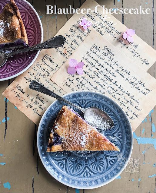 Tarta Cheesecake con arándanos