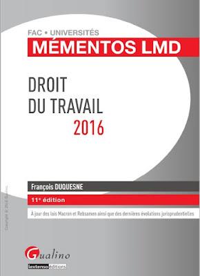 Télécharger Livre Gratuit Mémentos LMD - Droit du travail pdf