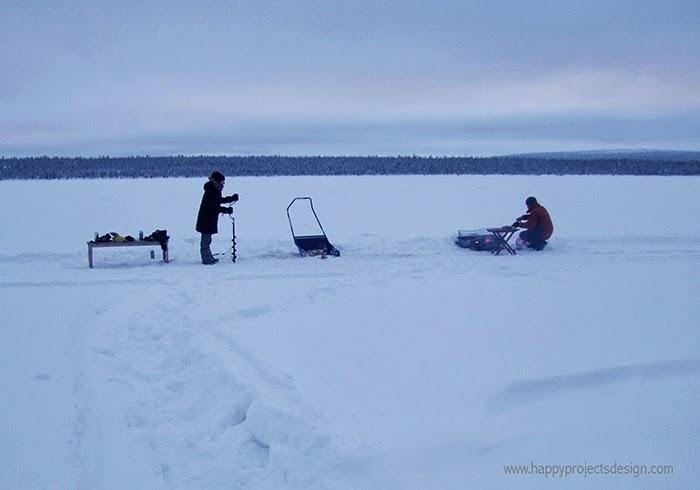 Laponia: preparando la barbacoa
