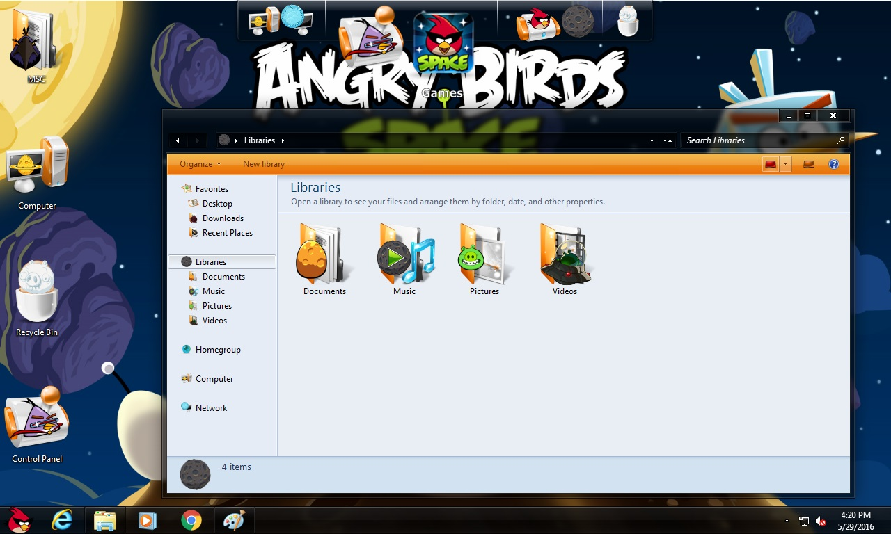 How to install Angry Birds Space Transformation Pack on Windows 10