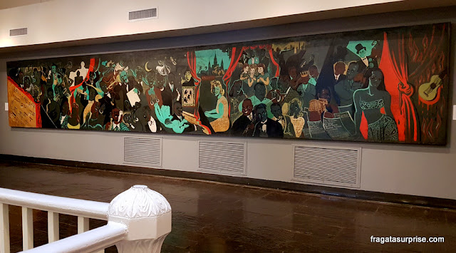 Painel retrata 60 artistas do Jazz no Museu do Jazz de Nova Orleans